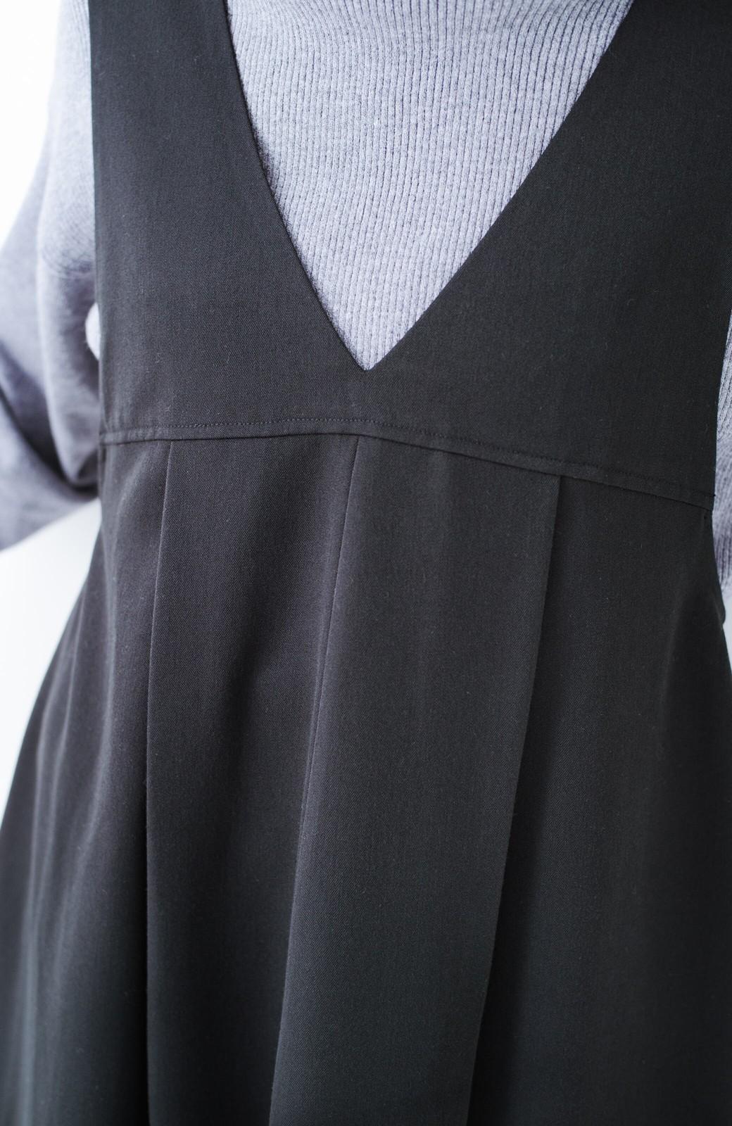 haco! Tシャツにもニットにもずーーっと着られて便利なジャンパースカート <ブラック>の商品写真5