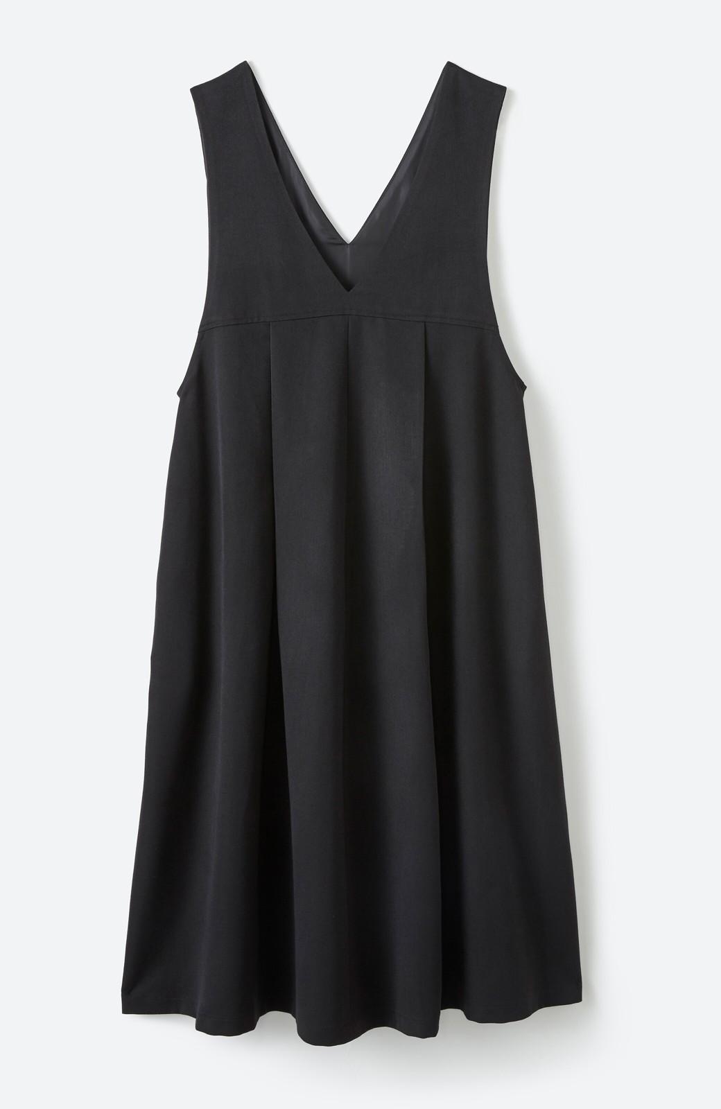 haco! Tシャツにもニットにもずーーっと着られて便利なジャンパースカート <ブラック>の商品写真18