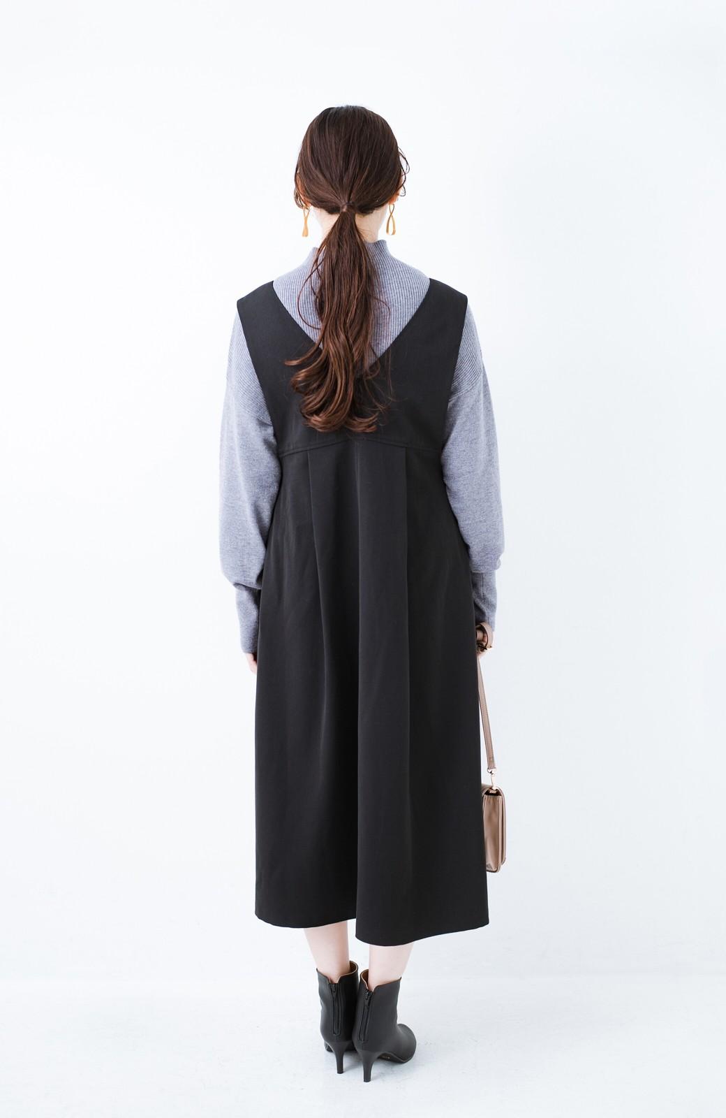 haco! Tシャツにもニットにもずーーっと着られて便利なジャンパースカート <ブラック>の商品写真6
