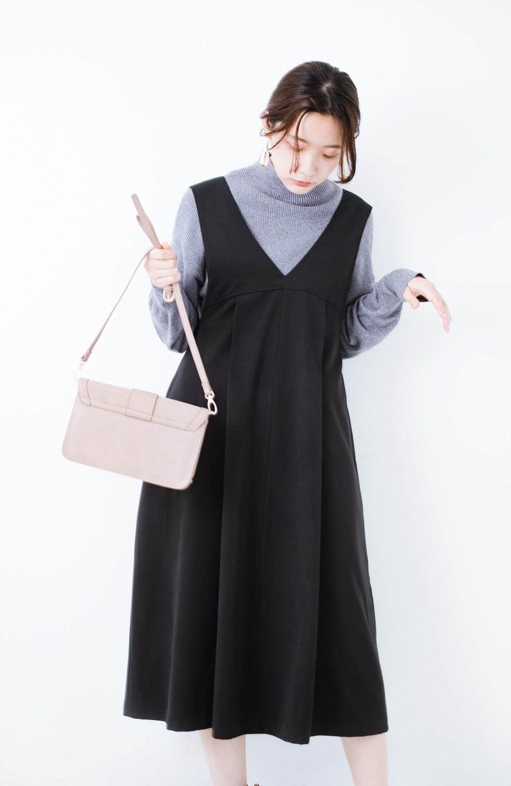 haco! Tシャツにもニットにもずーーっと着られて便利なジャンパースカート <ブラック>の商品写真16