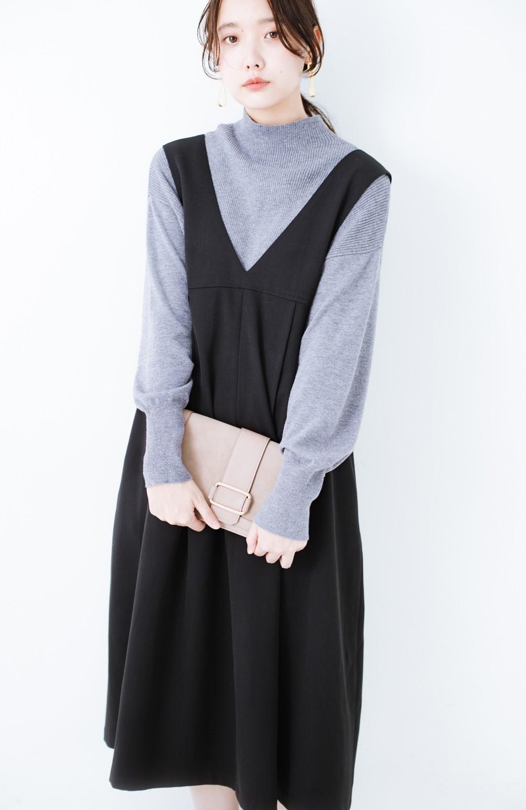 haco! Tシャツにもニットにもずーーっと着られて便利なジャンパースカート <ブラック>の商品写真17