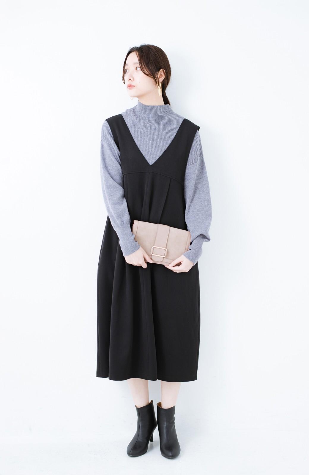 haco! Tシャツにもニットにもずーーっと着られて便利なジャンパースカート <ブラック>の商品写真11