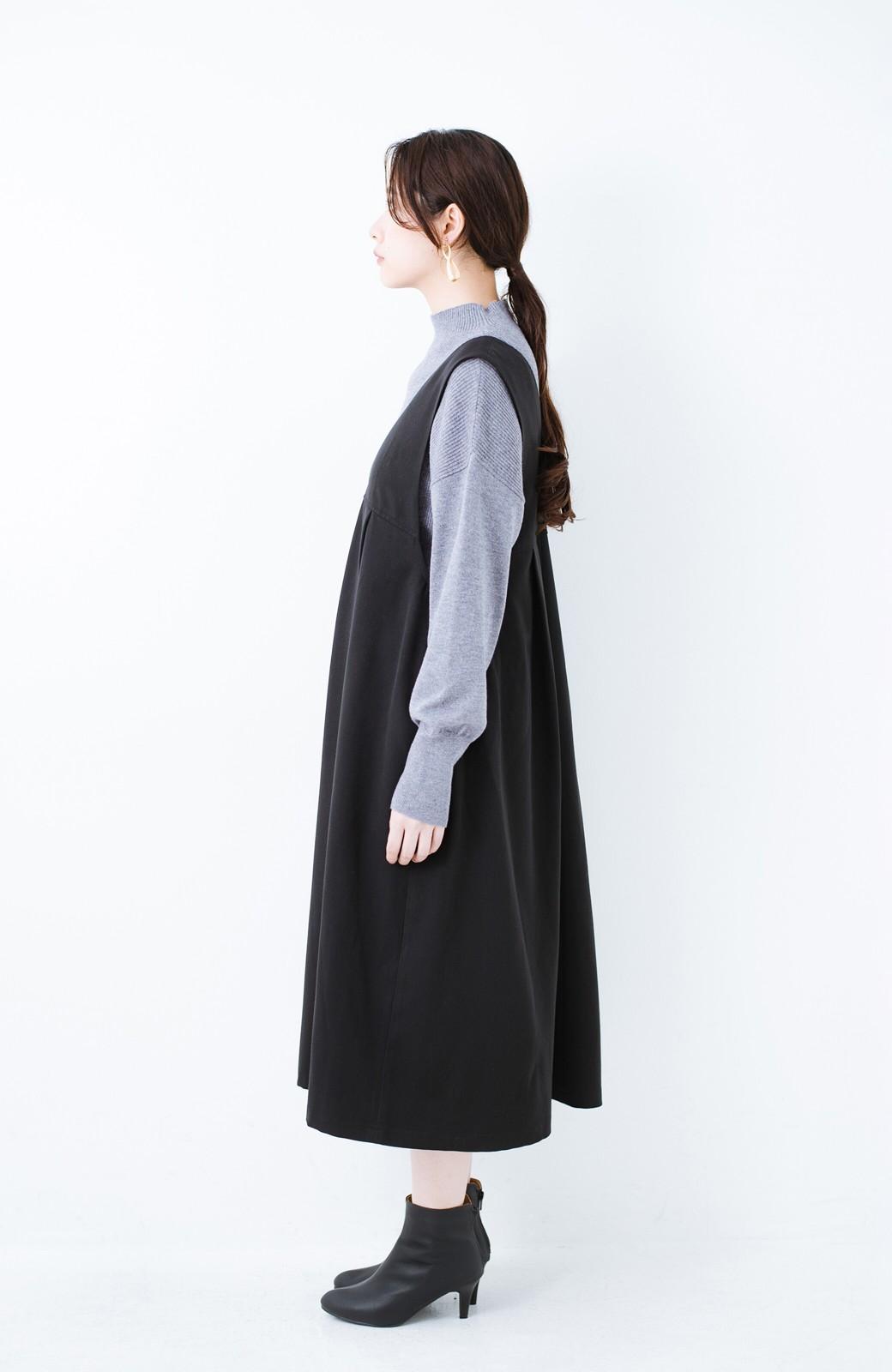 haco! Tシャツにもニットにもずーーっと着られて便利なジャンパースカート <ブラック>の商品写真14