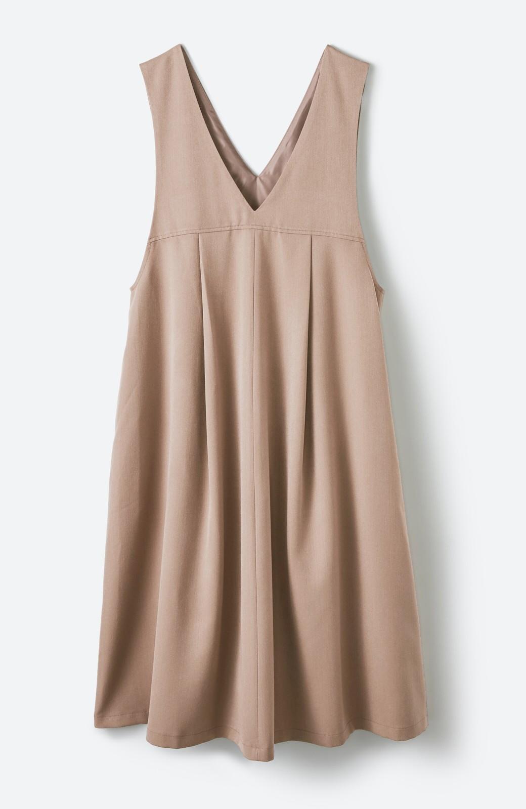 haco! Tシャツにもニットにもずーーっと着られて便利なジャンパースカート <ベージュ>の商品写真16