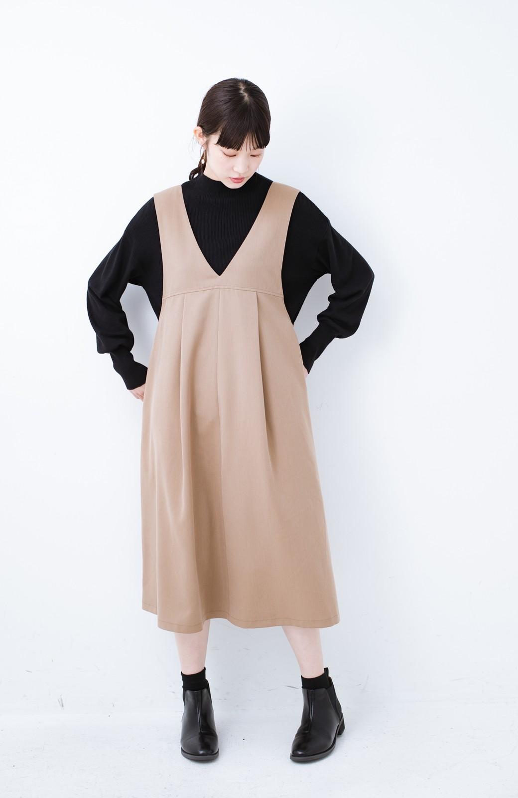 haco! Tシャツにもニットにもずーーっと着られて便利なジャンパースカート <ベージュ>の商品写真6