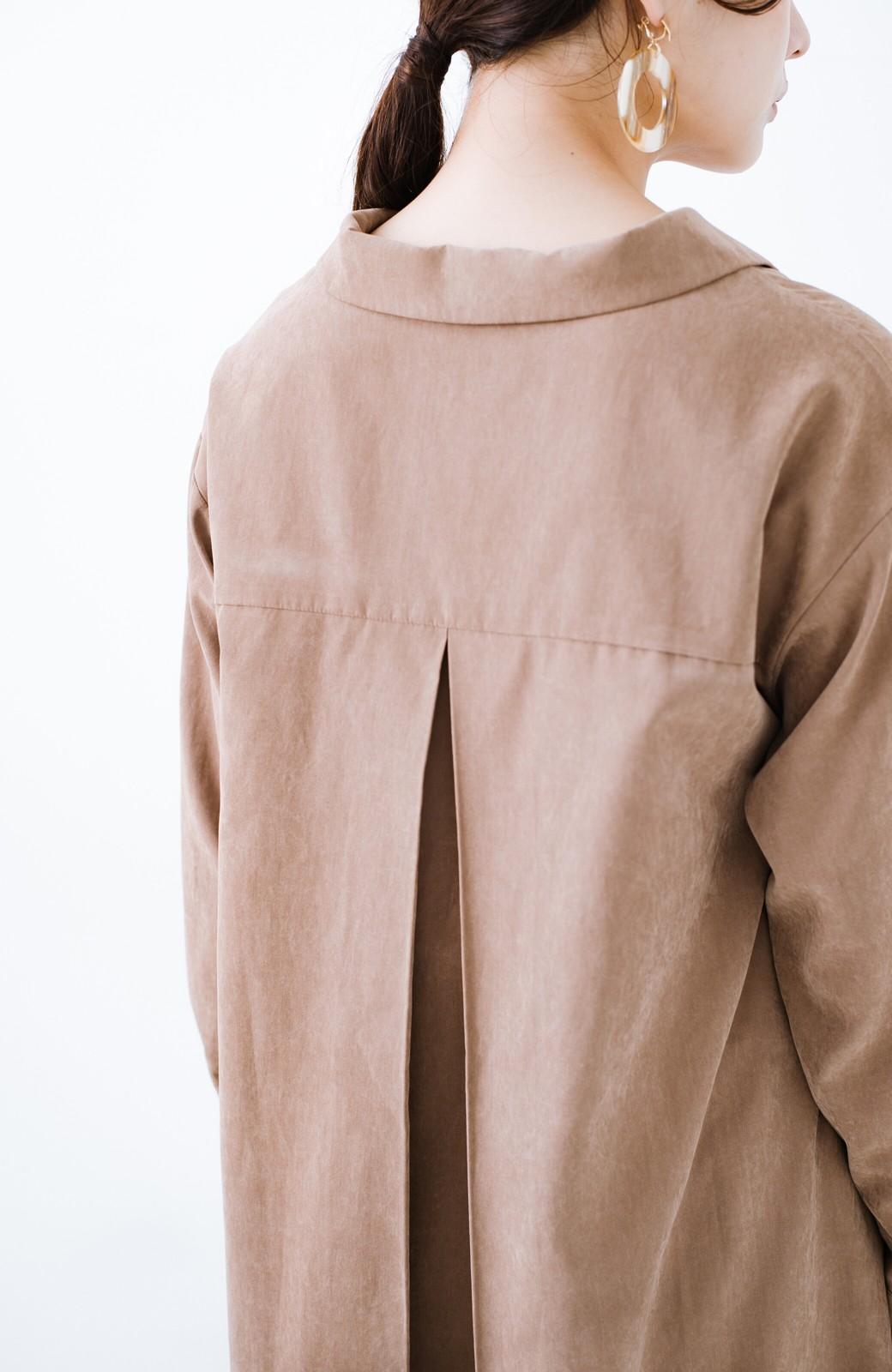 haco! 太ってもばれずに羽織っても便利なAラインワンピース <ブラウン>の商品写真5