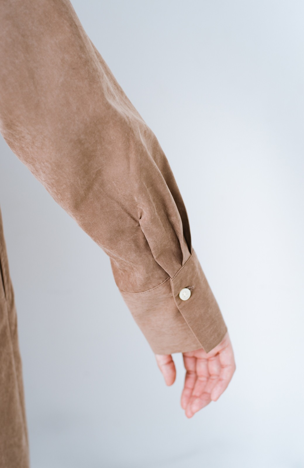 haco! 太ってもばれずに羽織っても便利なAラインワンピース <ブラウン>の商品写真8