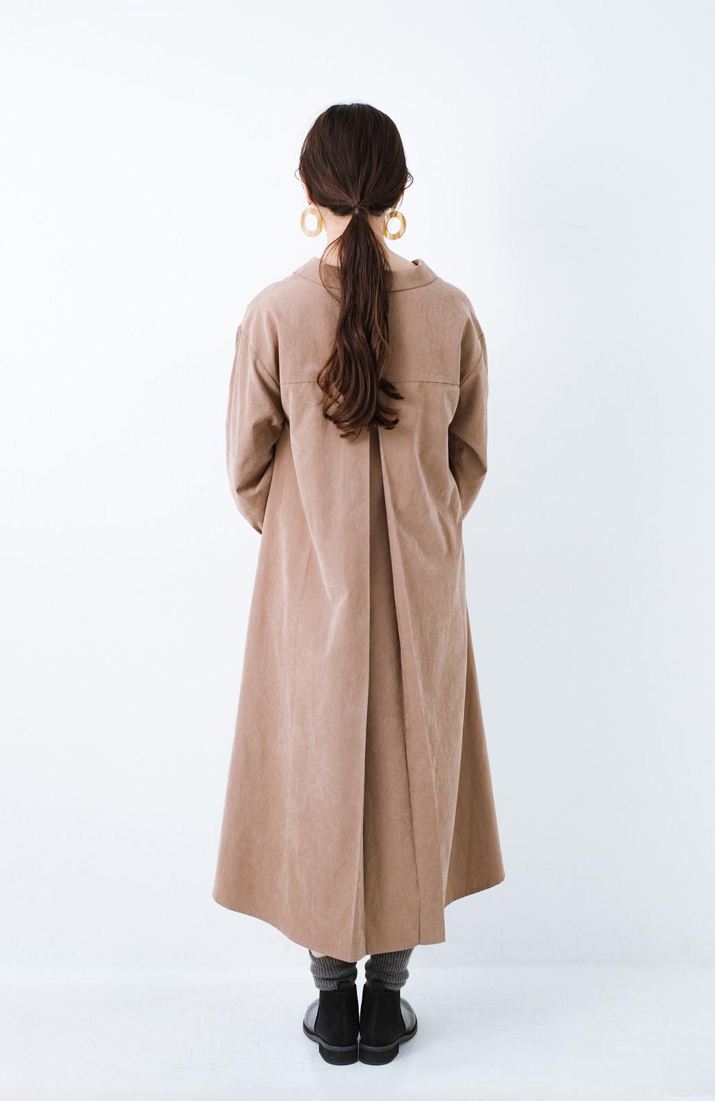 haco! 太ってもばれずに羽織っても便利なAラインワンピース <ブラウン>の商品写真18