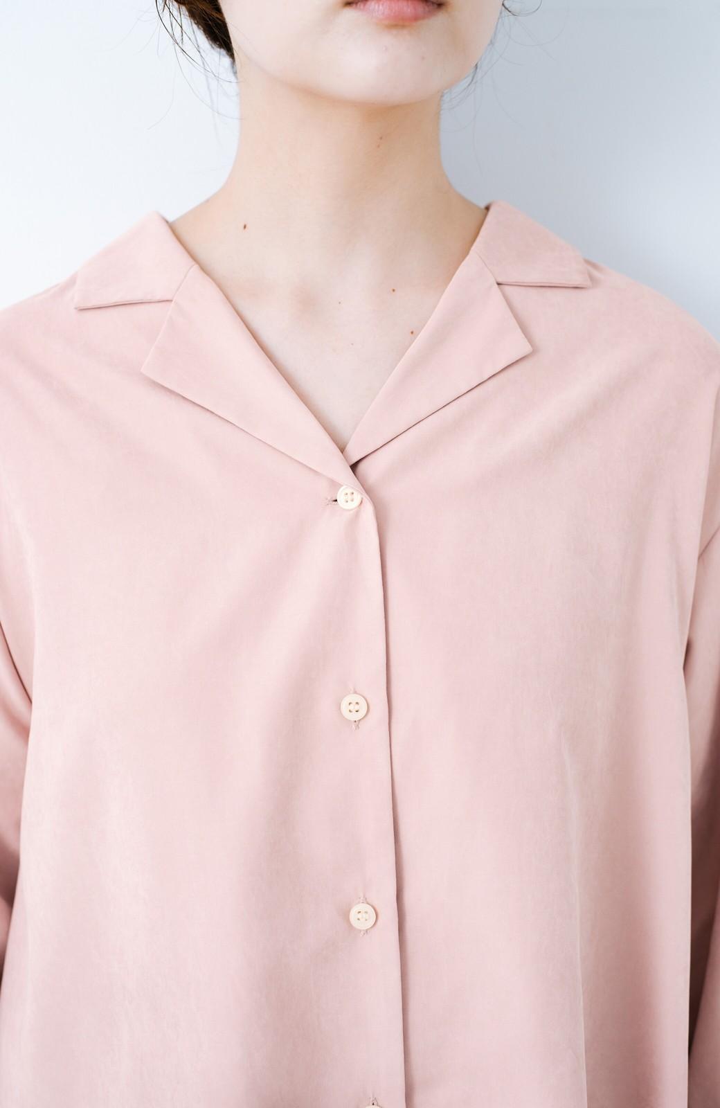 haco! 太ってもばれずに羽織っても便利なAラインワンピース <ピンク>の商品写真5