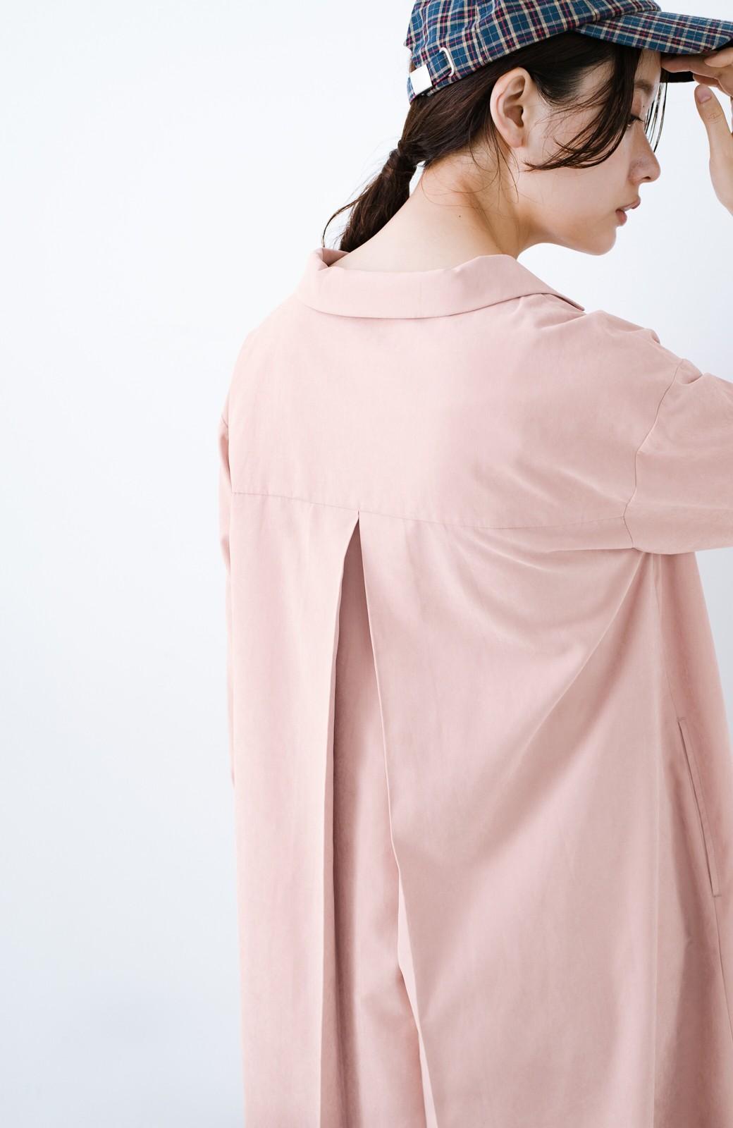 haco! 太ってもばれずに羽織っても便利なAラインワンピース <ピンク>の商品写真6