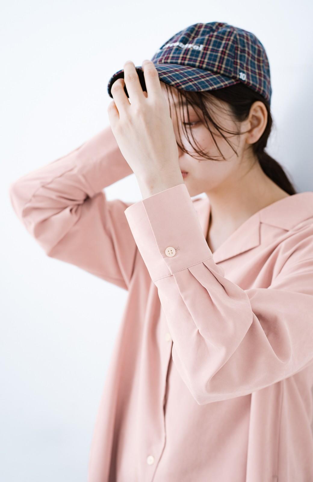 haco! 太ってもばれずに羽織っても便利なAラインワンピース <ピンク>の商品写真9