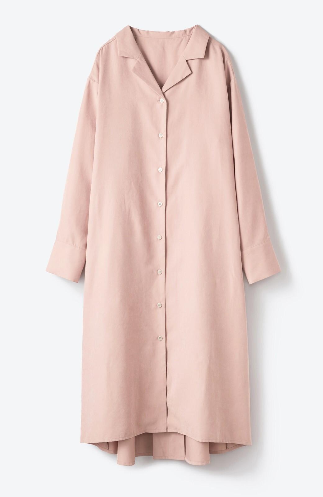haco! 太ってもばれずに羽織っても便利なAラインワンピース <ピンク>の商品写真19