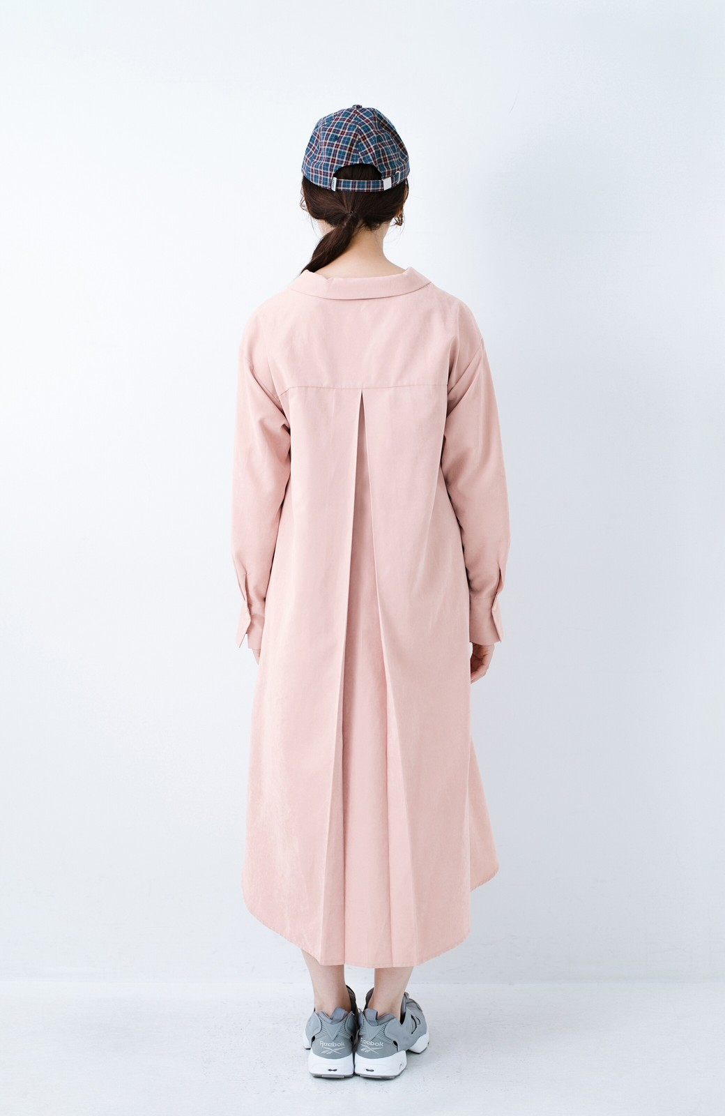 haco! 太ってもばれずに羽織っても便利なAラインワンピース <ピンク>の商品写真16