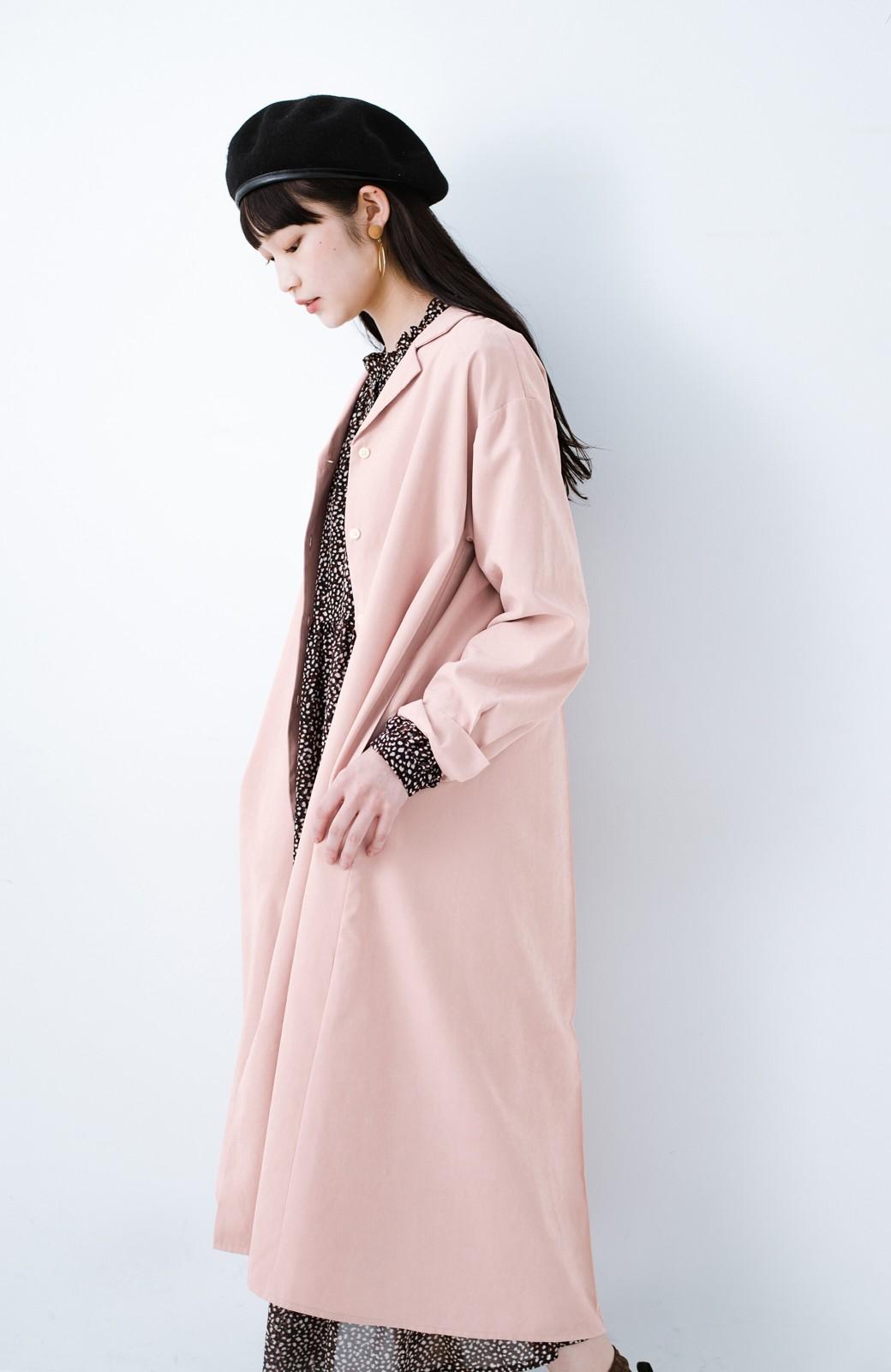 haco! 太ってもばれずに羽織っても便利なAラインワンピース <ピンク>の商品写真14