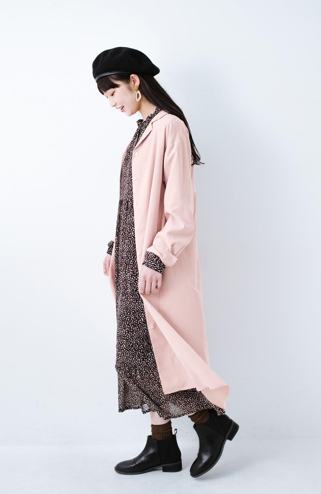 haco! 太ってもばれずに羽織っても便利なAラインワンピース <ピンク>の商品写真13