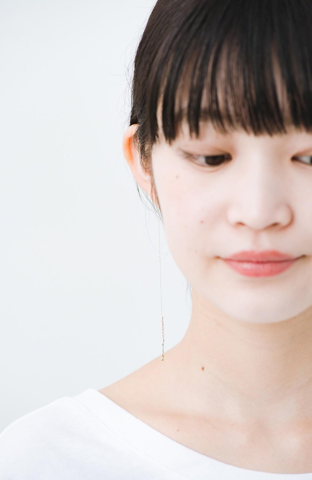 haco! 繊細な仕上がりが女性らしさを際立たせるチェーン&ビーズピアスplala by ciika  <シルバー>の商品写真5