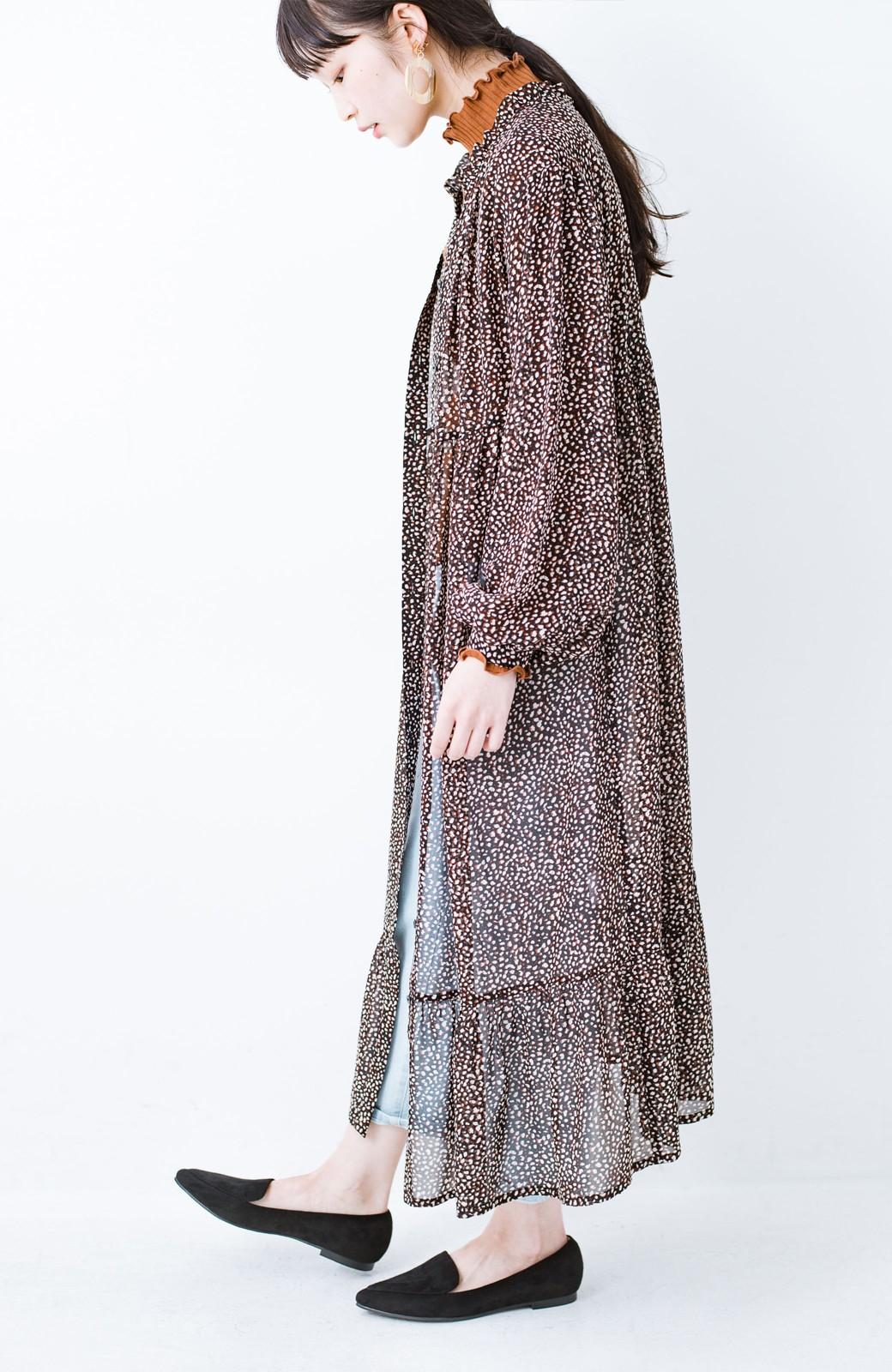 haco! カジュアルな服に合わせてもかっこよくて女っぽい スエード調ポインテッドシューズ by que made me <ブラック>の商品写真12