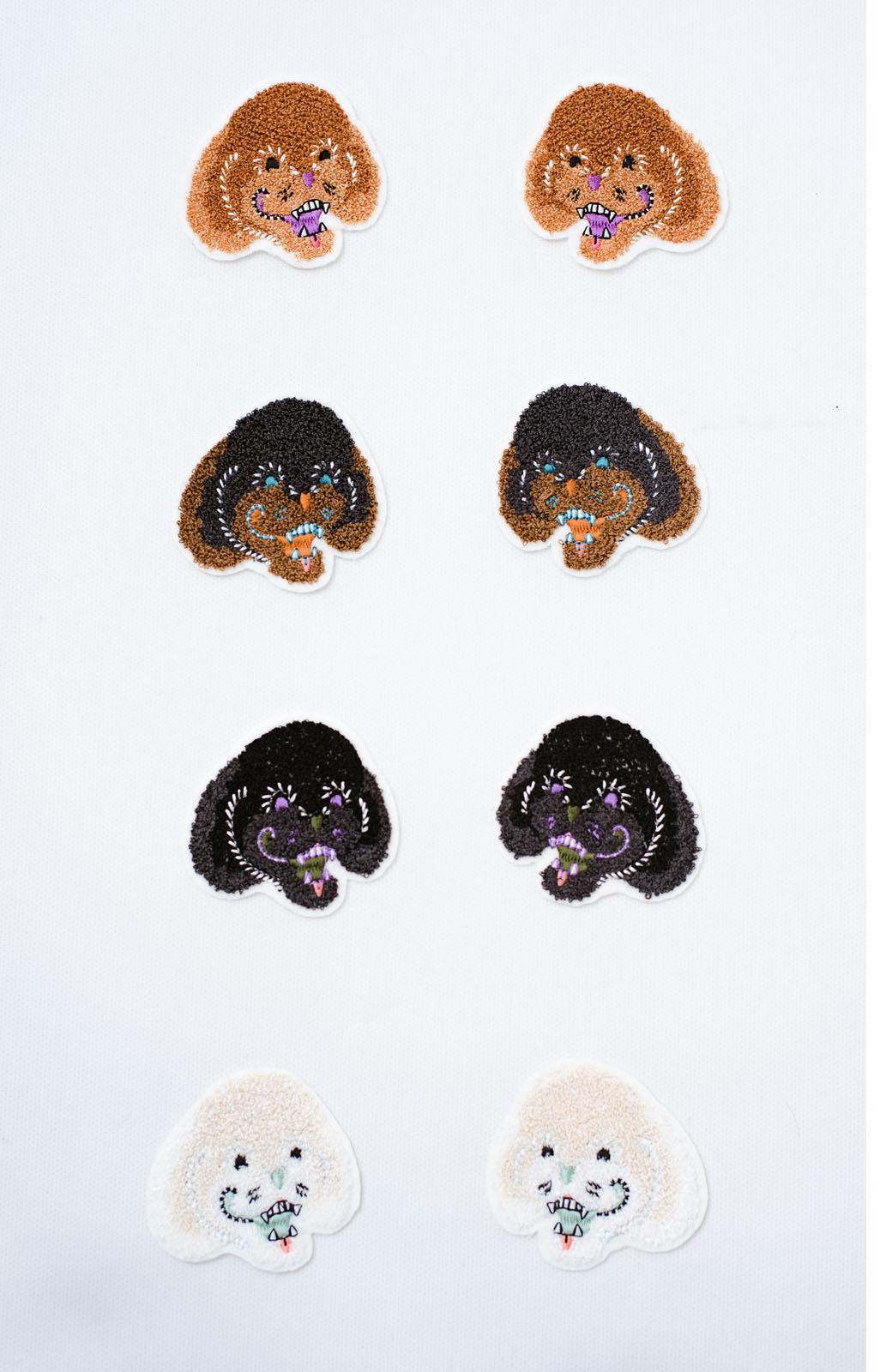 haco! haco! × RBTXCO何色がお好き?プードルちゃんのぷくぷく刺繍ワッペン付きスウェットプルオーバー <オフホワイト>の商品写真2