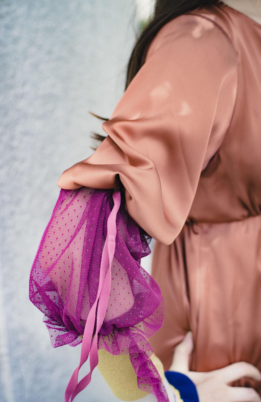 haco! haco! × RBTXCO一枚でラクチンおしゃれ!袖ふわっぼんっきゅっエンパイアワンピース <レンガ>の商品写真15