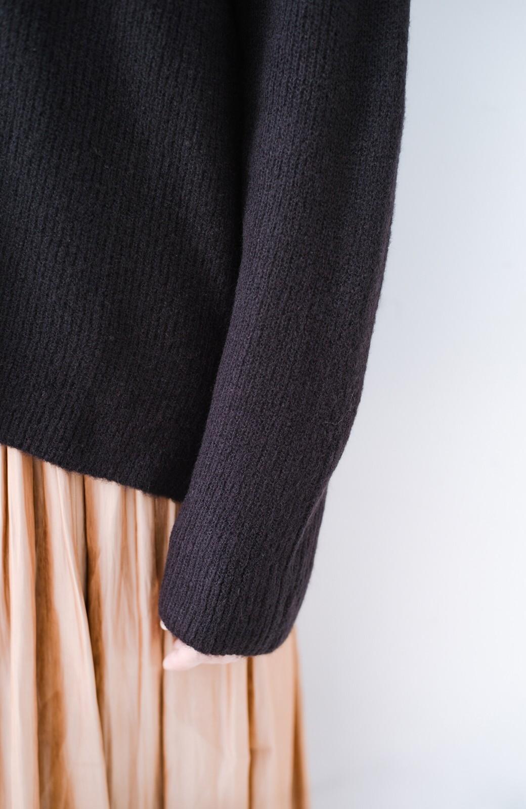 haco!  パッと着てさりげなく女っぽい 便利なシンプルVネックニット <ブラック>の商品写真7