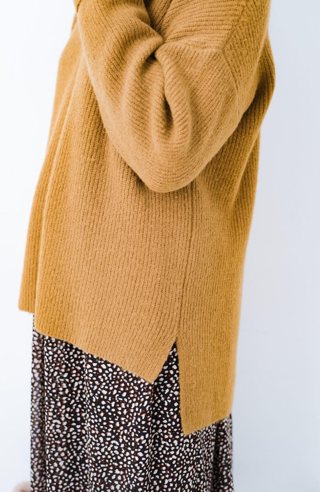 haco!  パッと着てさりげなく女っぽい 便利なシンプルVネックニット <キャメル>の商品写真5
