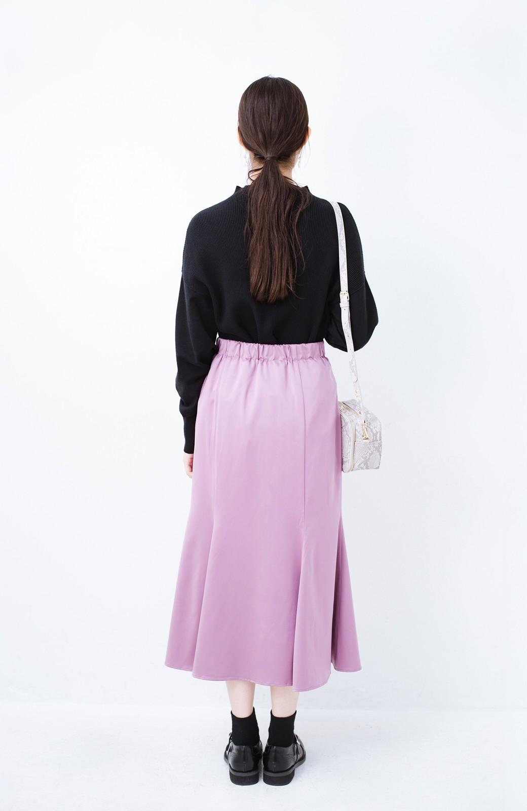 haco! スウェットやスニーカーを合わせても女っぽくいられるサテンマーメイドスカート by que made me <ピンク>の商品写真13