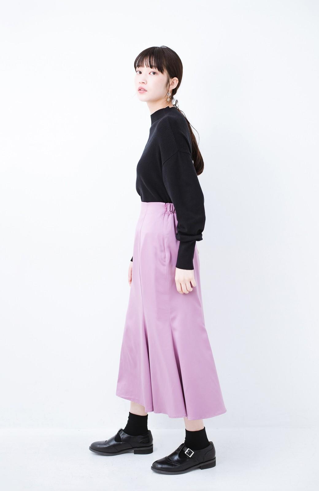 haco! スウェットやスニーカーを合わせても女っぽくいられるサテンマーメイドスカート by que made me <ピンク>の商品写真11