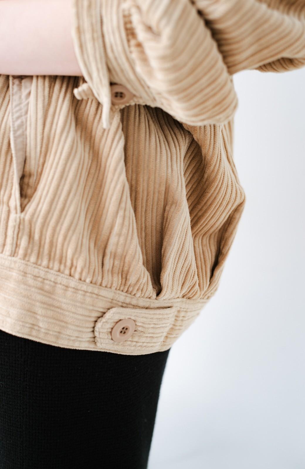 haco! パッと羽織って今っぽオシャレに見える コーデュロイジャケット <ベージュ>の商品写真9