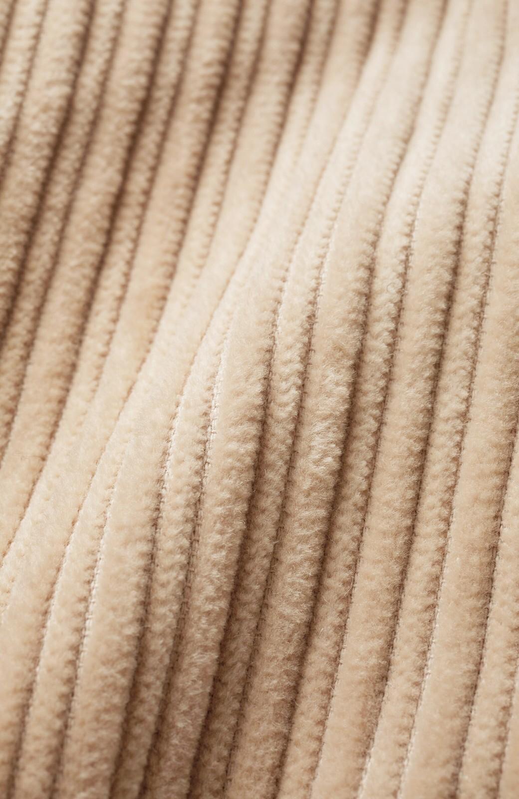 haco! パッと羽織って今っぽオシャレに見える コーデュロイジャケット <ベージュ>の商品写真6