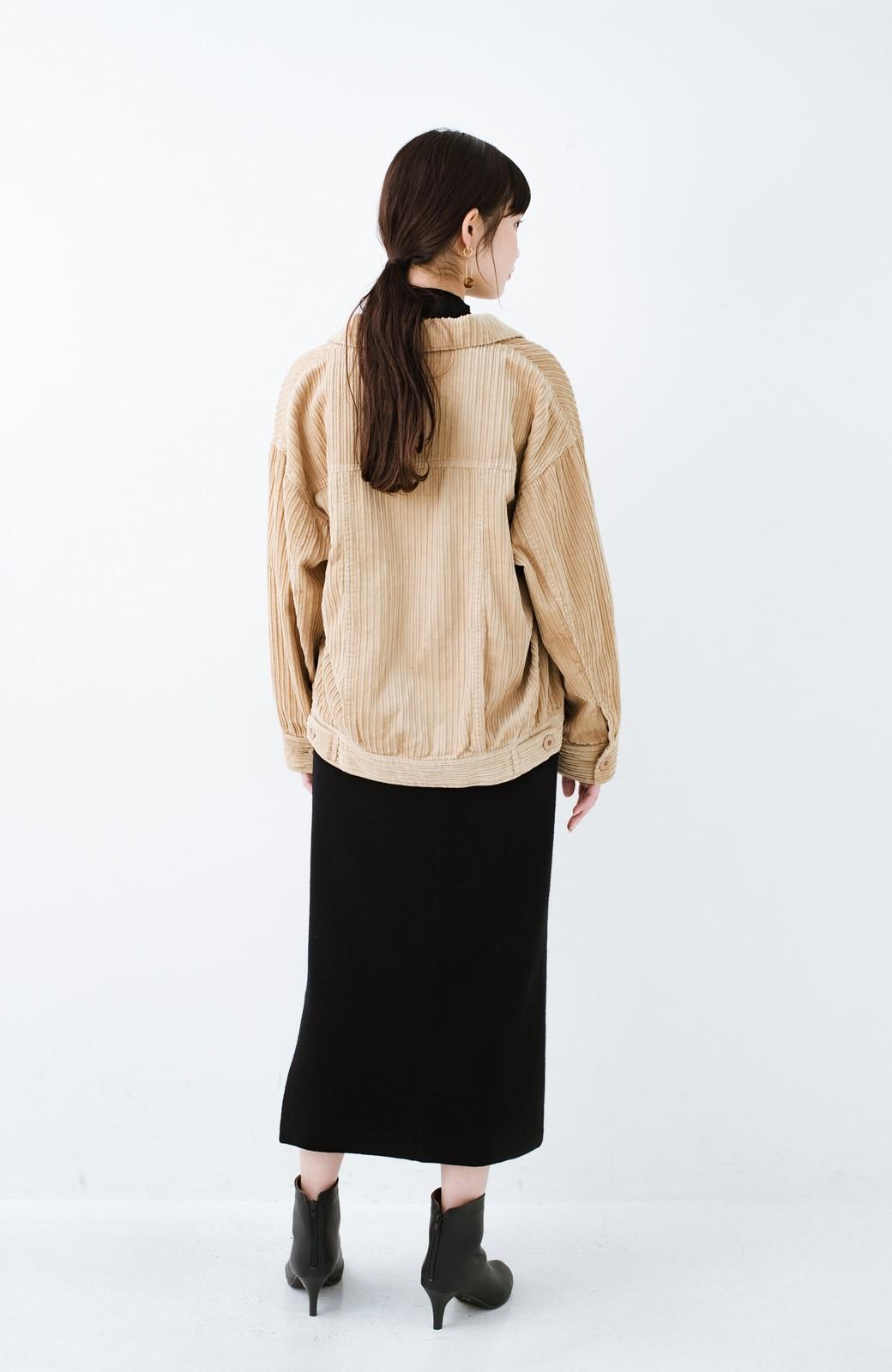 haco! パッと羽織って今っぽオシャレに見える コーデュロイジャケット <ベージュ>の商品写真13