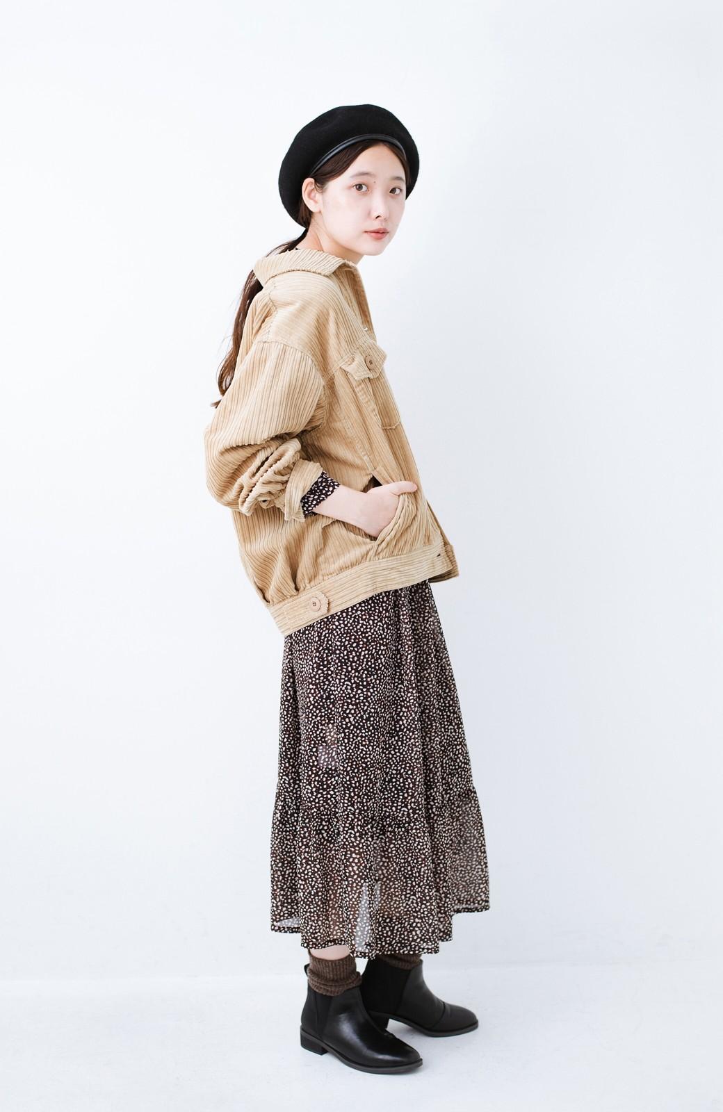 haco! パッと羽織って今っぽオシャレに見える コーデュロイジャケット <ベージュ>の商品写真11