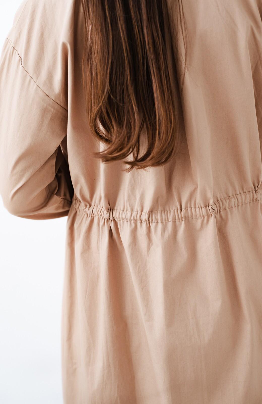 haco! PBPオーガニックコットン 羽織っても1枚でも便利なワンピース <ベージュ>の商品写真9
