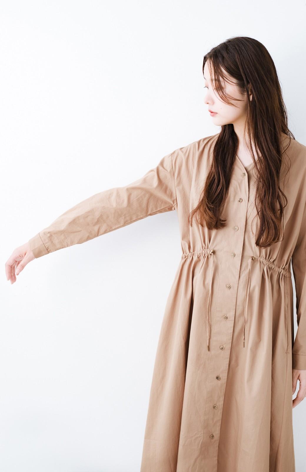 haco! PBPオーガニックコットン 羽織っても1枚でも便利なワンピース <ベージュ>の商品写真5