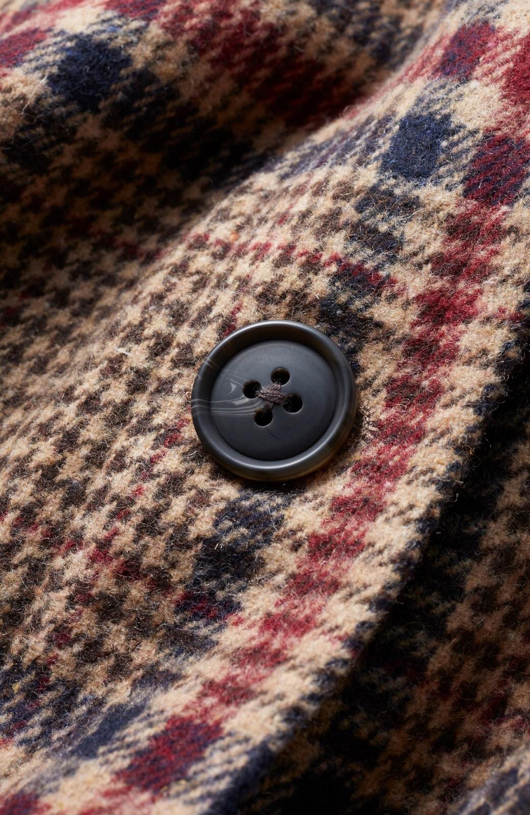 haco! 【スザンヌさんコラボ】ビッグシルエットのタータンチェックジャケット by LOVE&PEACE PROJECT <ベージュ系その他>の商品写真3