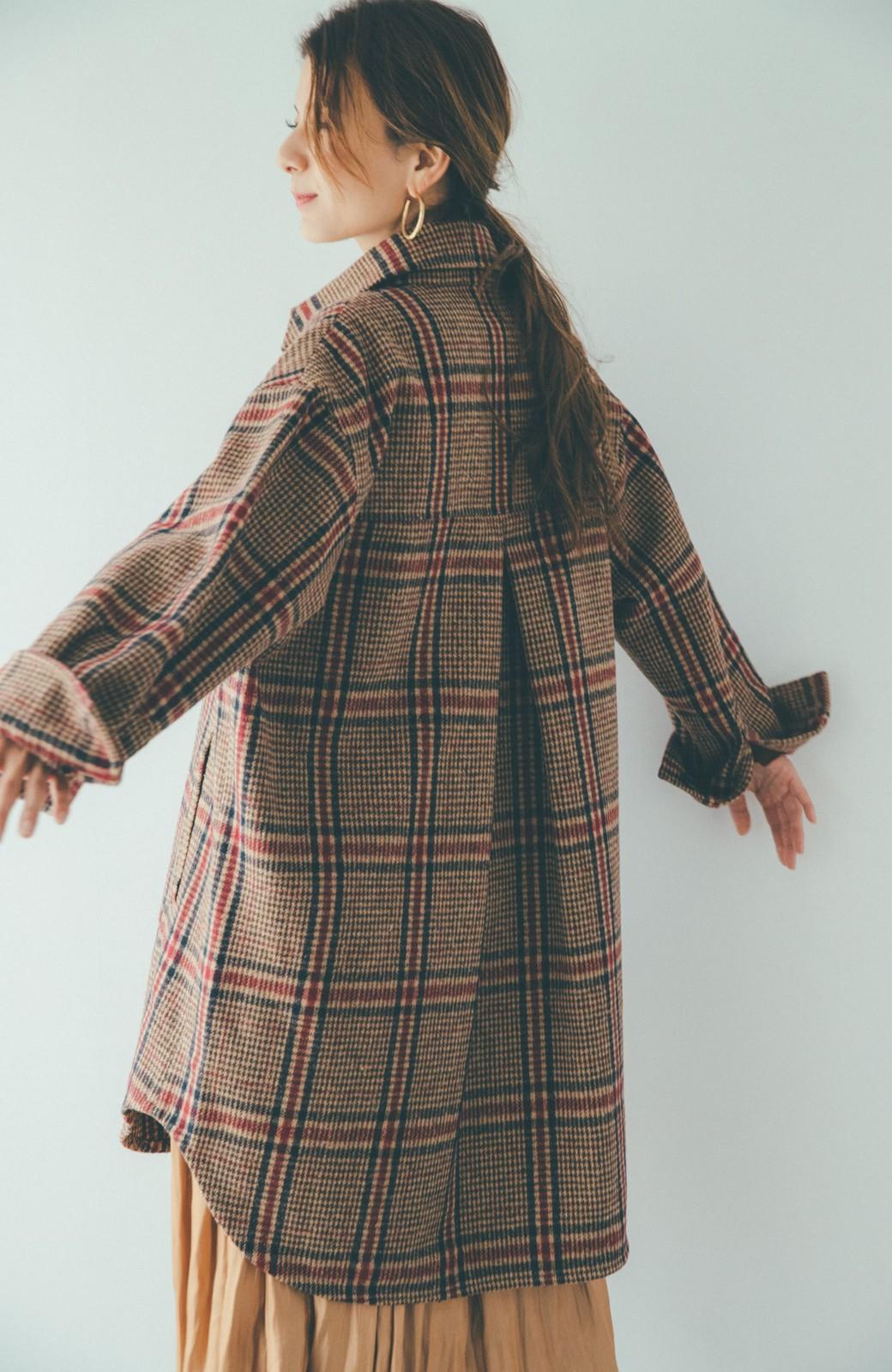 haco! 【スザンヌさんコラボ】ビッグシルエットのタータンチェックジャケット by LOVE&PEACE PROJECT <ベージュ系その他>の商品写真22