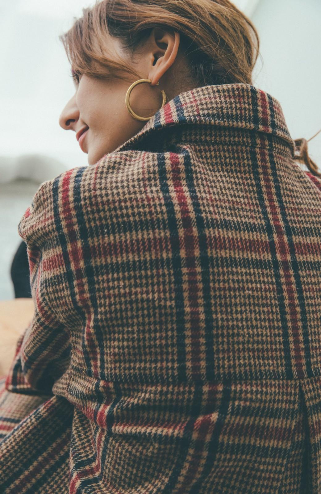 haco! 【スザンヌさんコラボ】ビッグシルエットのタータンチェックジャケット by LOVE&PEACE PROJECT <ベージュ系その他>の商品写真9