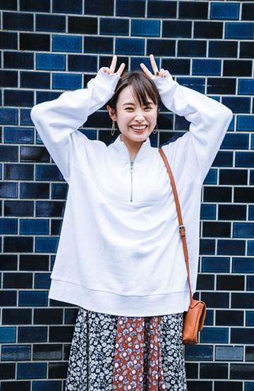haco! 【高橋愛さんコラボ】スタンドカラーのアノラックスウェットトップス<メンズ> by LOVE&PEACE PROJECT <ホワイト>の商品写真