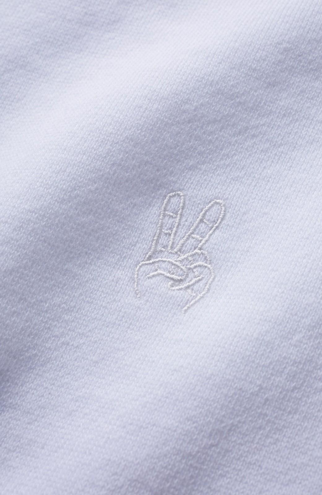 haco! 【高橋愛さんコラボ】スタンドカラーのアノラックスウェットトップス<メンズ> by LOVE&PEACE PROJECT <ホワイト>の商品写真4