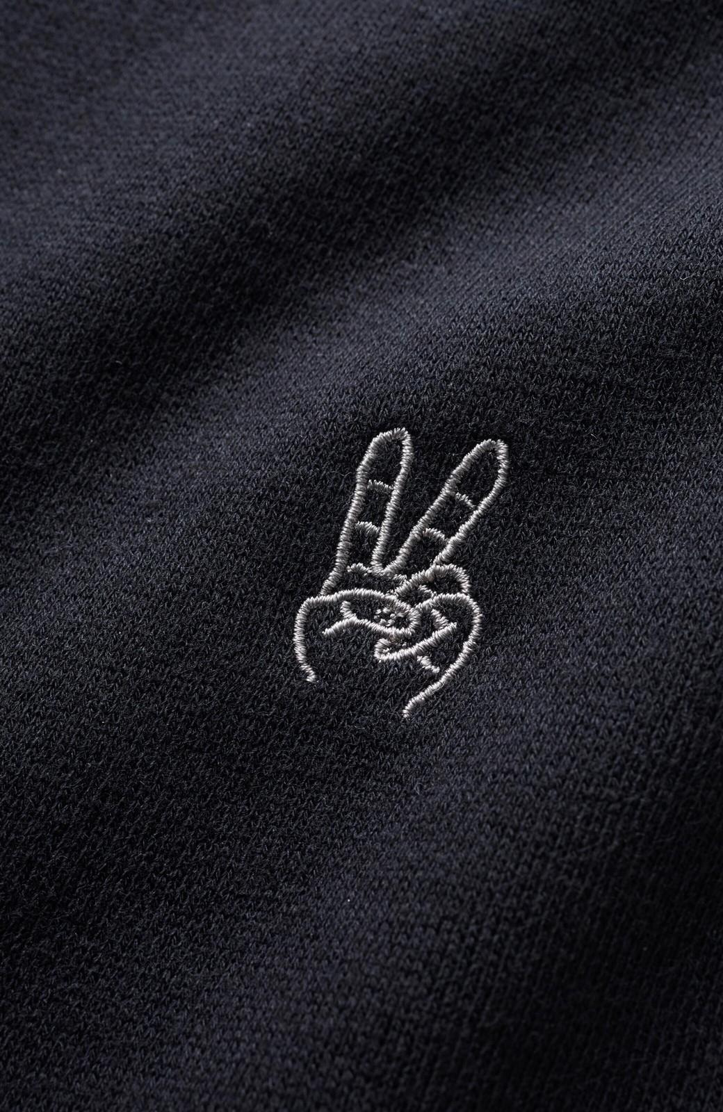 haco! 【高橋愛さんコラボ】スタンドカラーのアノラックスウェットトップス<メンズ> by LOVE&PEACE PROJECT <ブラック>の商品写真5