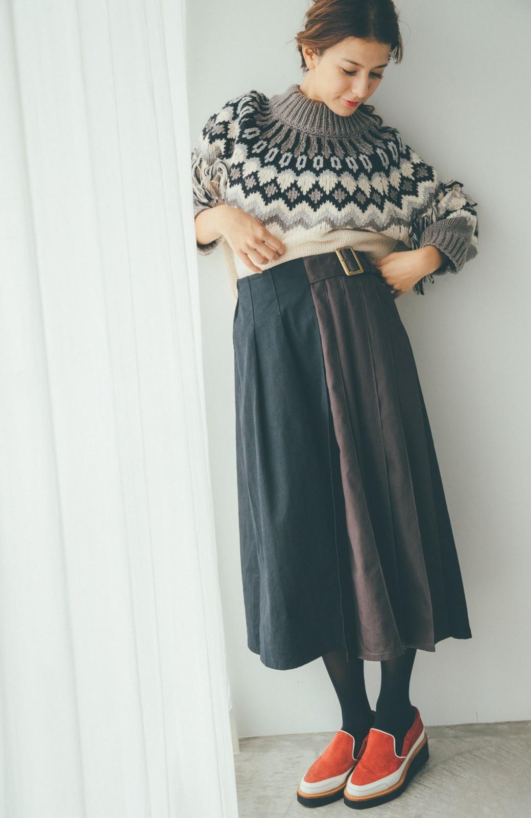 haco! 【スザンヌさんコラボ】配色プリーツのパネルスカート by LOVE&PEACE PROJECT <ブラック>の商品写真10