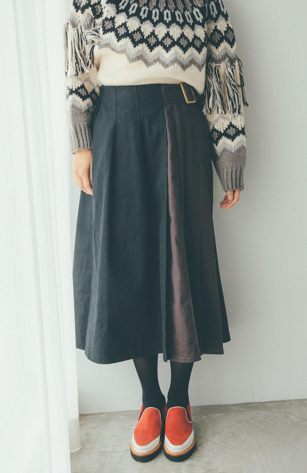 haco! 【スザンヌさんコラボ】配色プリーツのパネルスカート by LOVE&PEACE PROJECT <ブラック>の商品写真15