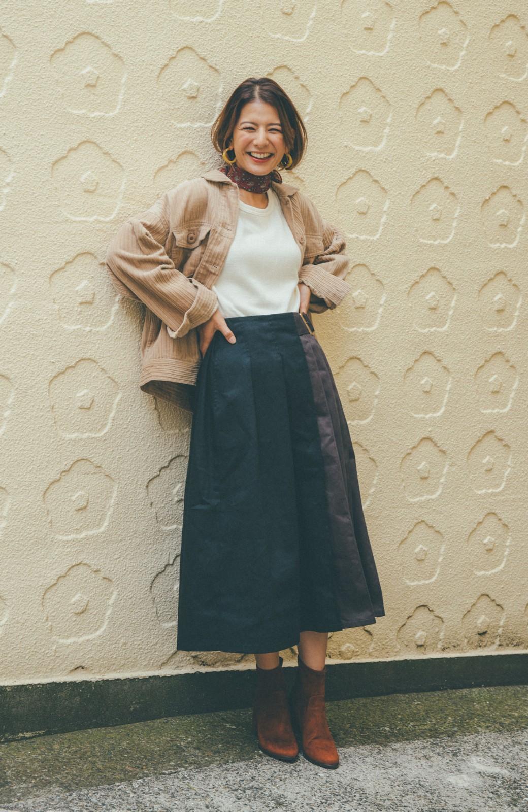 haco! 【スザンヌさんコラボ】配色プリーツのパネルスカート by LOVE&PEACE PROJECT <ブラック>の商品写真7