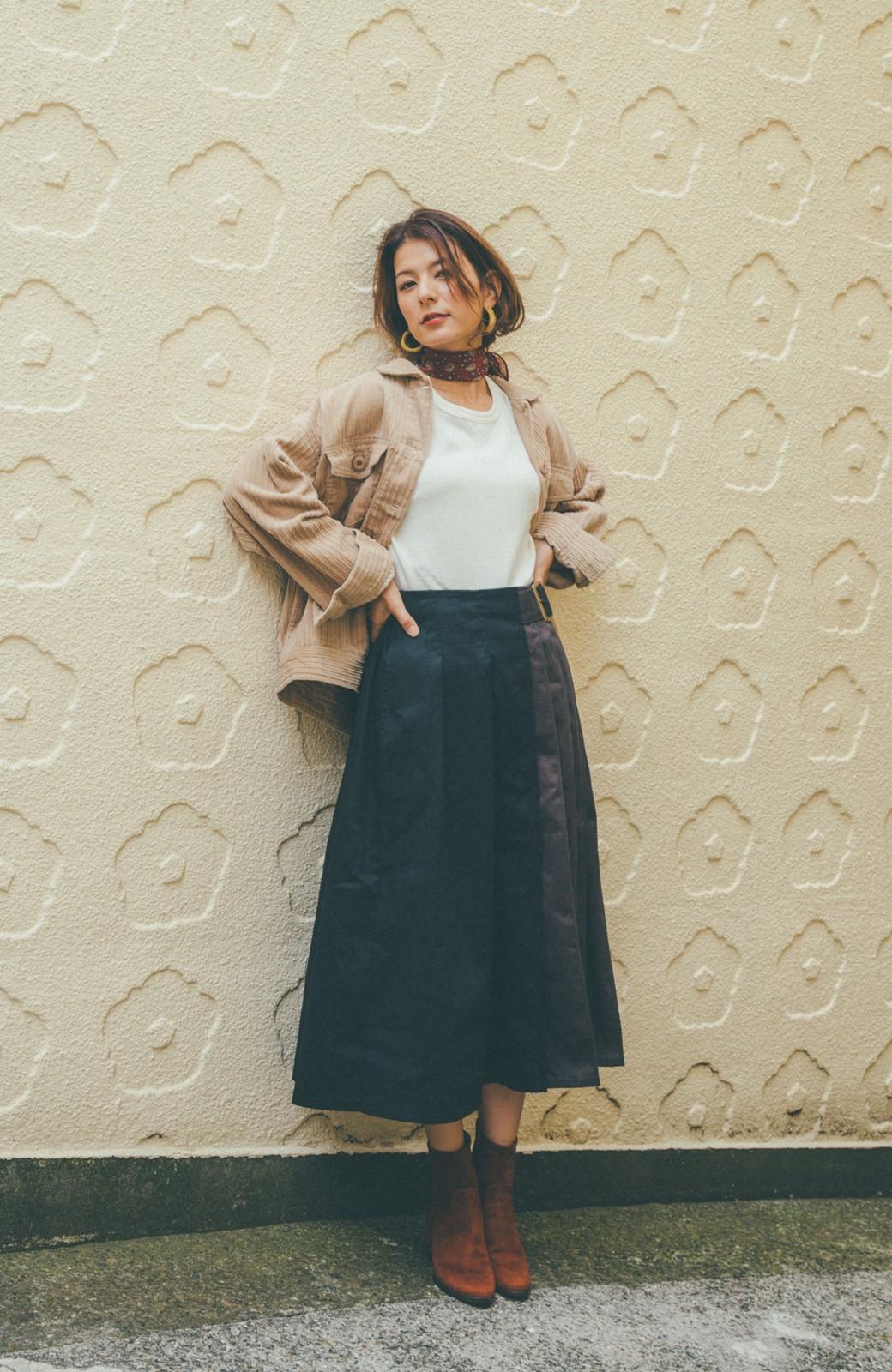 haco! 【スザンヌさんコラボ】配色プリーツのパネルスカート by LOVE&PEACE PROJECT <ブラック>の商品写真8