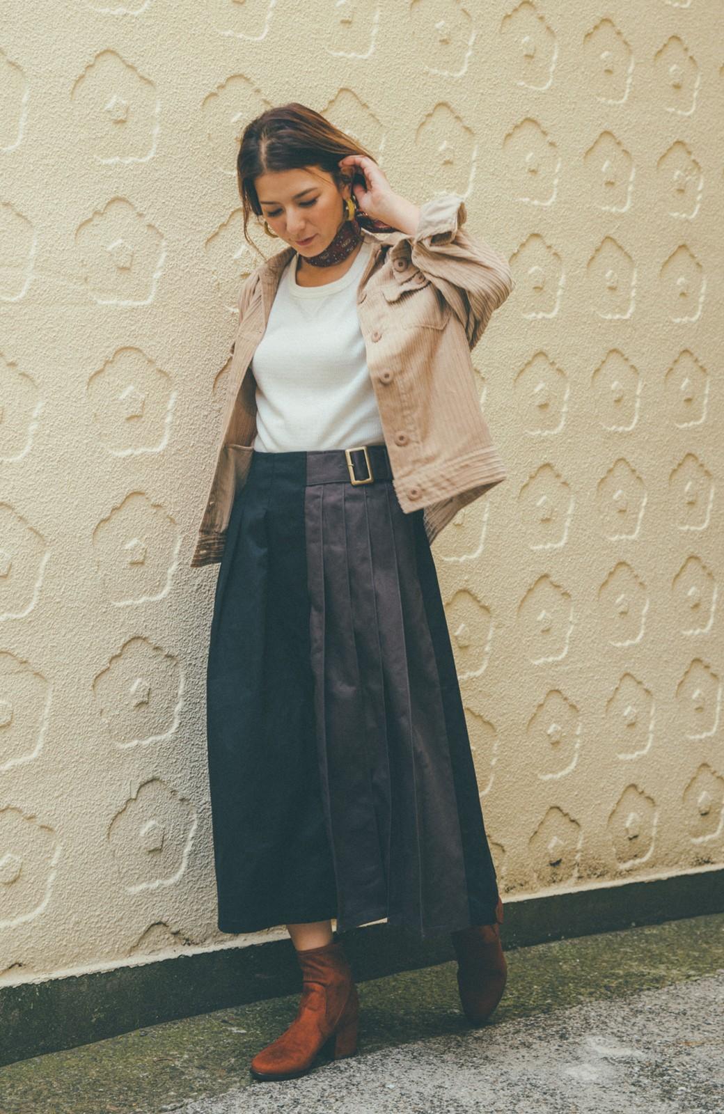 haco! 【スザンヌさんコラボ】配色プリーツのパネルスカート by LOVE&PEACE PROJECT <ブラック>の商品写真6