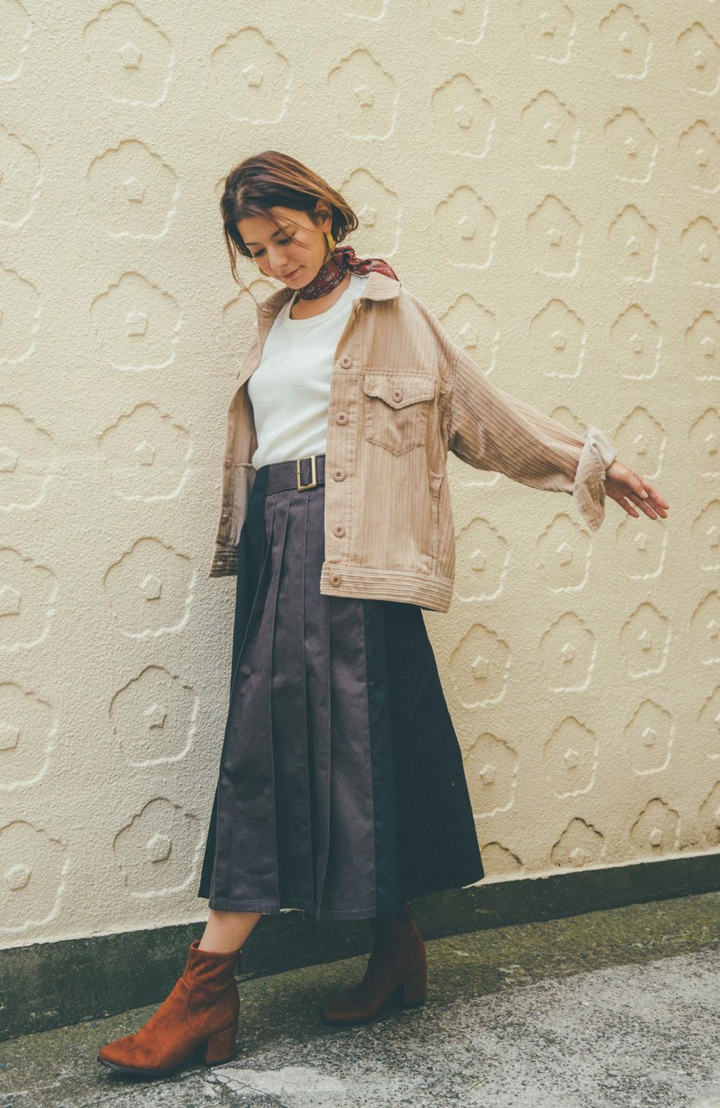 haco! 【スザンヌさんコラボ】配色プリーツのパネルスカート by LOVE&PEACE PROJECT <ブラック>の商品写真17