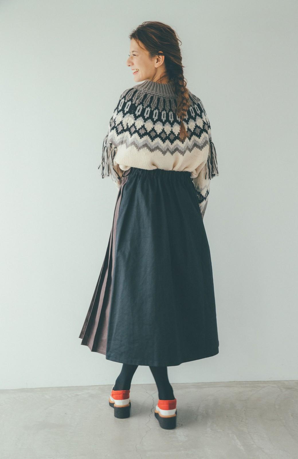 haco! 【スザンヌさんコラボ】配色プリーツのパネルスカート by LOVE&PEACE PROJECT <ブラック>の商品写真11
