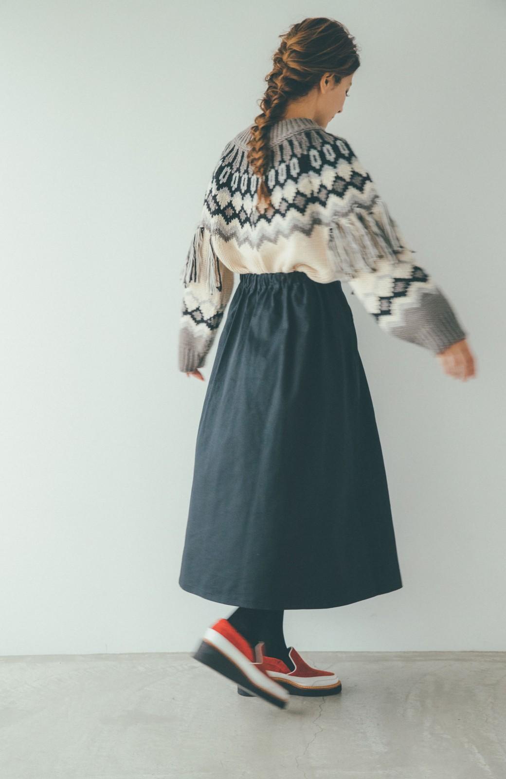 haco! 【スザンヌさんコラボ】配色プリーツのパネルスカート by LOVE&PEACE PROJECT <ブラック>の商品写真12