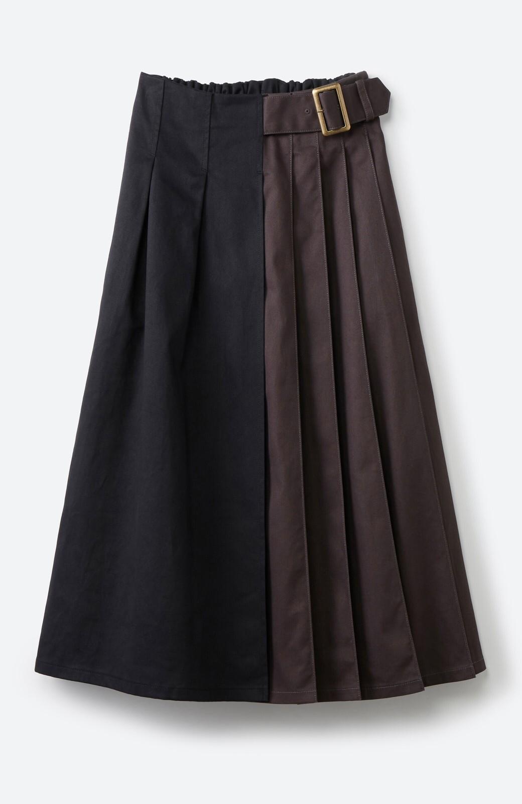 haco! 【スザンヌさんコラボ】配色プリーツのパネルスカート by LOVE&PEACE PROJECT <ブラック>の商品写真2