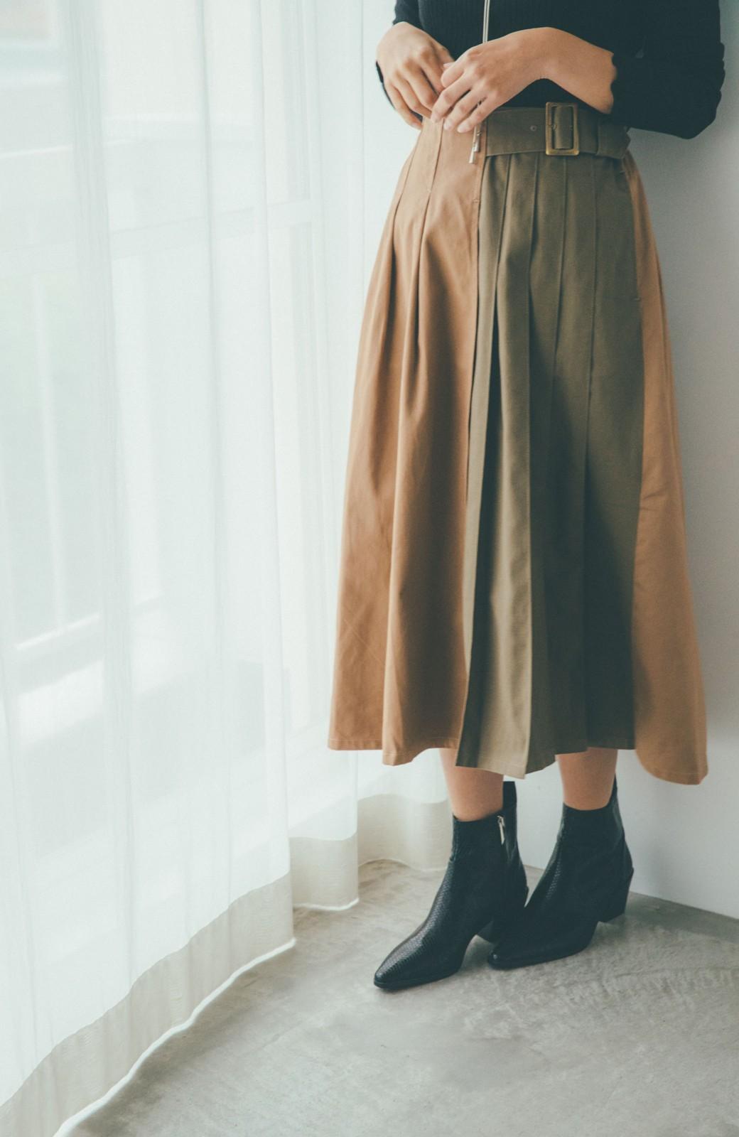 haco! 【スザンヌさんコラボ】配色プリーツのパネルスカート by LOVE&PEACE PROJECT <ベージュ>の商品写真6