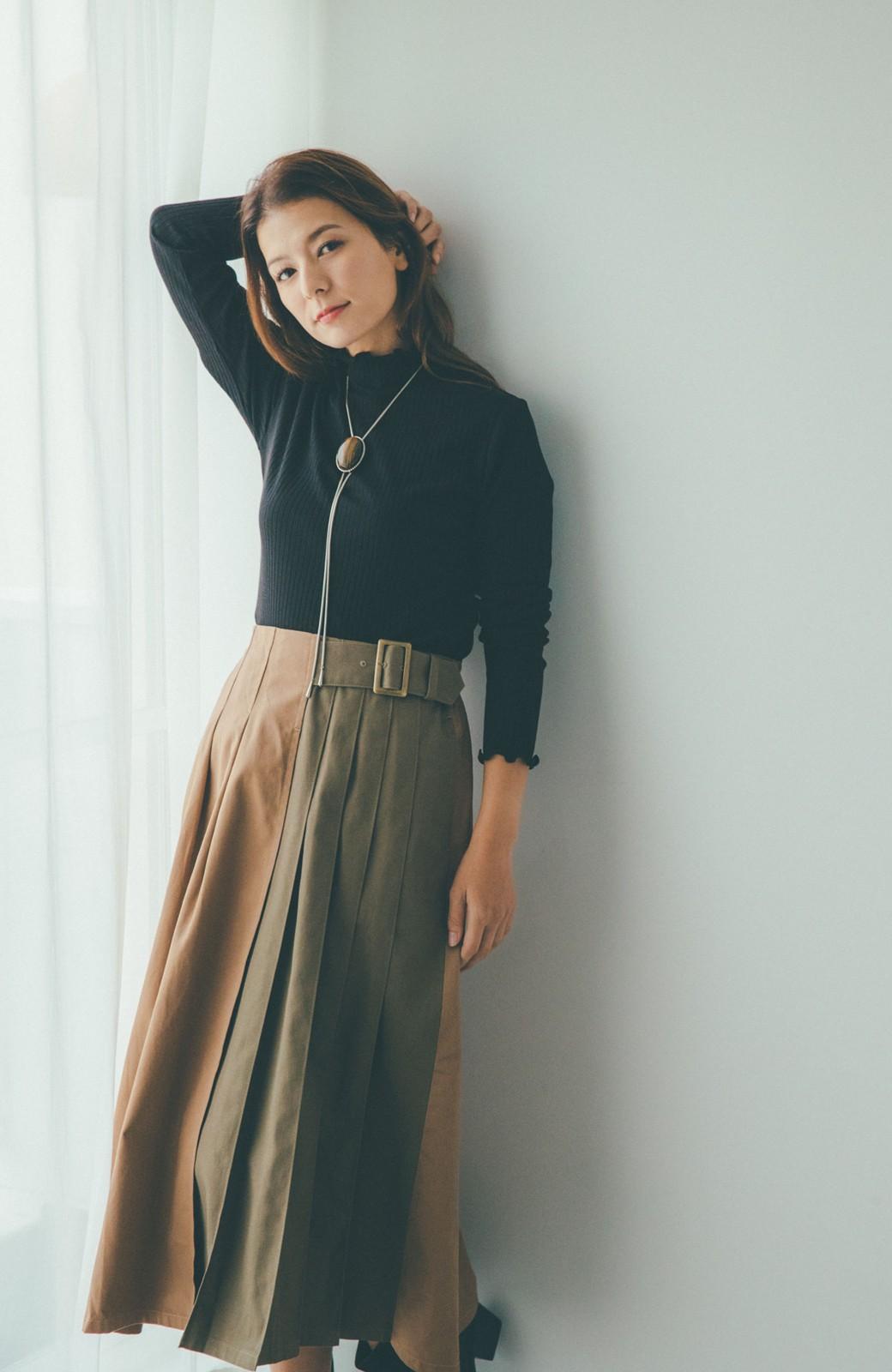haco! 【スザンヌさんコラボ】配色プリーツのパネルスカート by LOVE&PEACE PROJECT <ベージュ>の商品写真7
